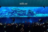 Acuario más grande en el centro comercial dubai mall — Foto de Stock