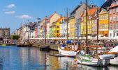 Copenhagen, Nyhavn touristic place — Stock Photo