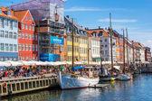 Copenhagen, Nyhavn tourist place — Stock Photo