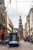 Tram in Amsterdam, Netherlands — ストック写真
