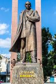 Monument to Stepan. Bandera in Lviv — Stock Photo