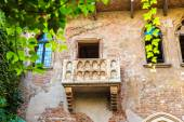 Romeo and Juliet  balcony  in Verona — Stock Photo