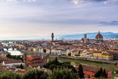 Panoramic sunset Florence — Stockfoto