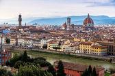 Panoramic sunset Florence — Стоковое фото
