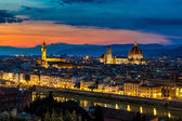 Panoramic sunset over Florence — Stock Photo