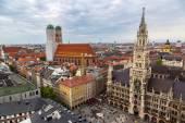 Aerial view on Marienplatz town hall — Stock Photo