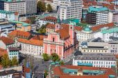 Aerial view of Ljubljana in Slovenia — Stock Photo