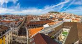 Lisbon Skyline panoramic view — Stock Photo