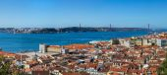 Vue panoramique de Lisbonne Skyline — Photo
