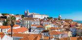 Panorama of Lisbon and Dome — Stock Photo