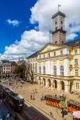 Lviv historic center of Ukraine — Stock Photo