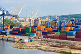 Deepwater Container Terminal in Gdansk — Stock Photo