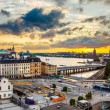 Panorama of  Stockholm at sunset — Stock Photo #74018535