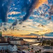 Panorama of  Stockholm at sunset — Stock Photo #74018559