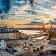 Panorama of  Stockholm at sunset — Stock Photo #74018561