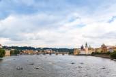 Prague and river Vltava — Stock Photo