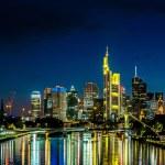 Frankfurt am Main skyline at night — Stock Photo #75357737