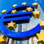 Euro sign near European Central Bank — Stock Photo #75357703