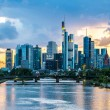 Frankfurt am Main skyline at sunset — Stock Photo #75357713