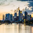 Frankfurt am Main skyline at sunset — Stock Photo #75357721