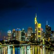 Frankfurt am Main skyline at night — Stock Photo #75357725