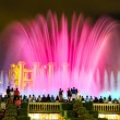 Fountain light show at night in Barcelona — Stock Photo #77012327
