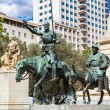Don Quixote and Sancho Panza  in Madrid — Stock Photo #77015223