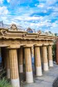 Parco guell a Barcellona — Foto Stock