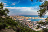 Barcelona and port in Spain — Stock Photo