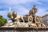 Fontana di Cibeles a madrid — Foto Stock