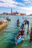 Gondolas on Canal Grande in Venice — Stock Photo