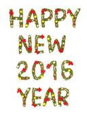 Nový rok pozdrav. 2016 — Stock fotografie