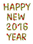 New Year's Eve groet. 2016 — Stockfoto