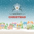 Merry Christmas vintage greeting card. — Stock Vector #59940495