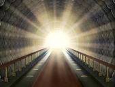 Sunlight in tunnel — Stock Photo