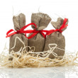 Three small gift sacks — Stock Photo #60730089