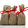 Three small gift sacks — Stock Photo #60730091