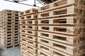 Stock wooden pallets — Stock Photo