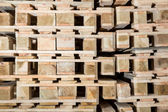 Stock wood pallets details — Stock Photo