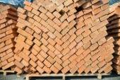 Stack of brick — Stock Photo