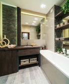 Bathroom in eco style — Stock Photo
