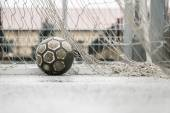 Ball in a goal — Stock Photo
