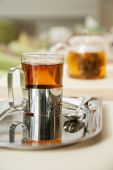 Transtarent glass of tea — Stock Photo