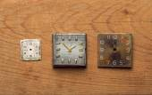 Square clock dials — Stock Photo