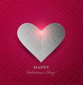 Valentine's day Background With Heart — ストックベクタ