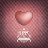 Aftelkalender voor valentijnsdag achtergrond — Stockvector