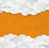 Vintage Background With Clouds — Stock Vector