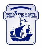 Sea travel — Stock Vector