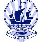 Blue ocean travel — Stock Vector #70083879