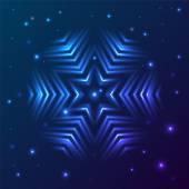 Glitter snowflake — Stock Vector